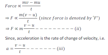 Newton's Second Law of Motion - Motion, Chapter Notes, Class