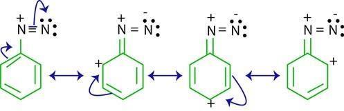 What is the resonance structure of aromatic diazonium salt? - Quora