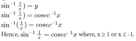 Doc: Basics Concepts - Inverse Trigonometric Functions JEE Notes | EduRev