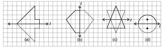 Worksheet Question - Symmetry Class 6 Notes | EduRev