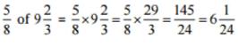 NCERT Solutions(Part - 1) - Fractions and Decimals Class 7 Notes | EduRev