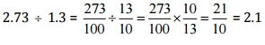 NCERT Solutions(Part - 3) - Fractions and Decimals Class 7 Notes | EduRev