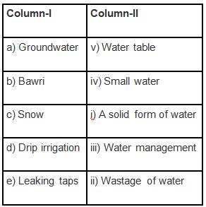 NCERT Exemplar Solutions: Water - A Precious Resource Notes | EduRev