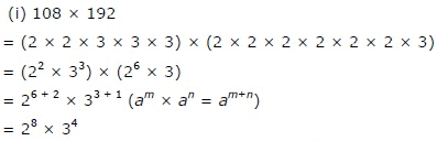 NCERT Solutions(Part - 1) - Exponents and Powers Class 7 Notes | EduRev