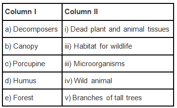 NCERT Exemplar Solutions: Forests - Our Lifeline Notes | EduRev