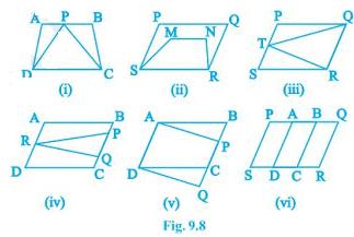 NCERT Solutions Chapter 9 - Areas of Parallelograms (I), Class 9, Maths Class 9 Notes   EduRev