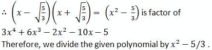 NCERT Solutions - Polynomials, Class 10, Maths Class 10 Notes | EduRev
