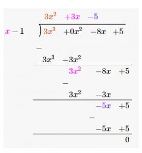 Division Algorithm for Polynomials Notes | EduRev