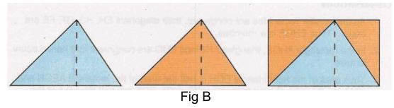 Procedure - To Show that the Area of a Triangle is half the Product of the Base and the Height, Math Class 9 Notes | EduRev