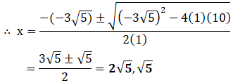 NCERT Exemplar: Quadratic Equations Notes   EduRev