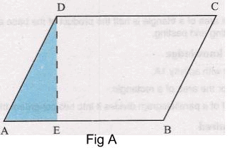 Procedure - To show that the Area of Parallelogram is Product of its Base and Height, Class 9 Math Class 9 Notes | EduRev