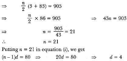 Previous Year Questions - Arithmetic Progressions Class 10 Notes | EduRev