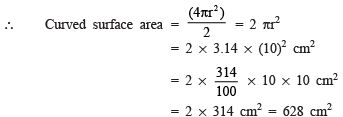Ex 13.4 NCERT Solutions- Surface Areas and Volumes Class 9 Notes | EduRev