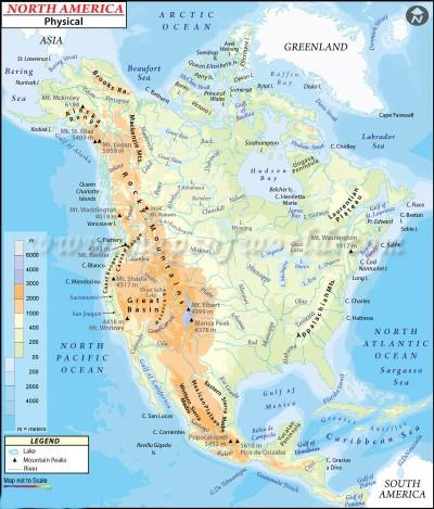 Geography of North America ( Part - 1) Notes | EduRev