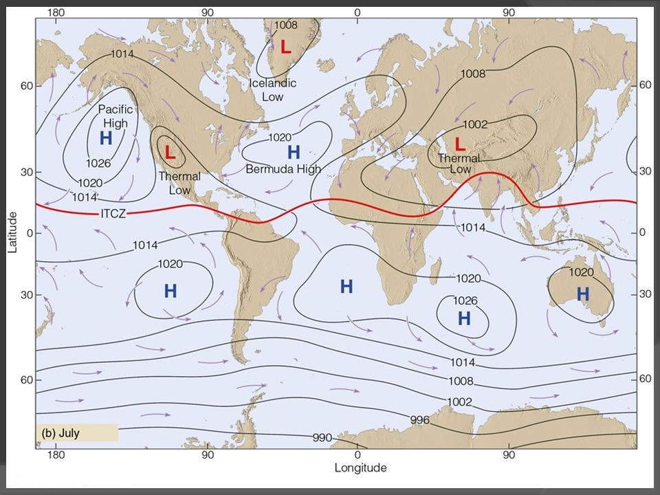 Pressure Belts of the Earth Notes | EduRev