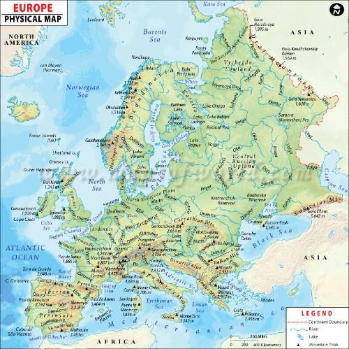 Geography of Europe Notes | EduRev