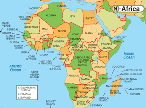 Geography of Africa - (Part - 1) Notes | EduRev