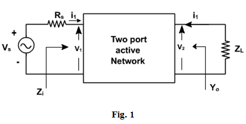 analysis of a transistor amplifier circuit using h-parameters , electronic  devices