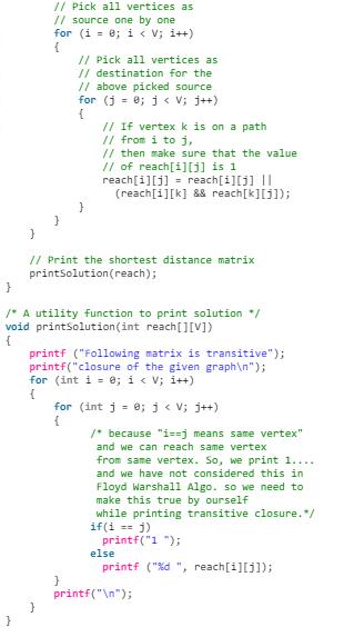 Transitive Closure of a Graph Notes   EduRev