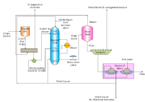 Preparation of Wood Pulp by Sulfate (kraft) Process Chemical Engineering Notes | EduRev