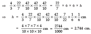 Ex 13.3 NCERT Solutions- Surface Areas and Volumes Class 10 Notes | EduRev