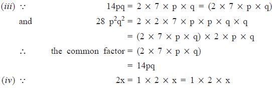 NCERT Solutions(Part- 1)- Factorisation Class 8 Notes | EduRev