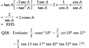 Short Answer Type Questions(Part- 2)- Introduction to Trigonometry Class 10 Notes | EduRev