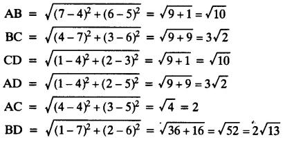 Ex 7.1 NCERT Solutions- Coordinate Geometry Class 10 Notes   EduRev