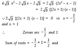 Worksheet Questions - Polynomials Class 10 Notes | EduRev