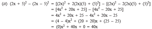 NCERT Solutions (Part- 4)- Algebraic Expressions and Identities Class 8 Notes | EduRev