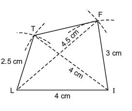 NCERT Solutions(Part- 1)- Practical Geometry Class 8 Notes | EduRev