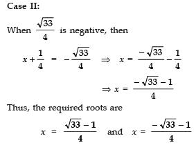 Ex 4.3 NCERT Solutions- Quadratic Equations Class 10 Notes   EduRev