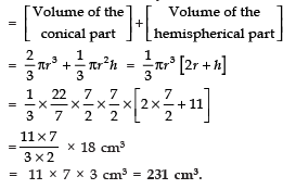 Short Answer Type Questions- Surface Areas and Volumes Class 10 Notes | EduRev