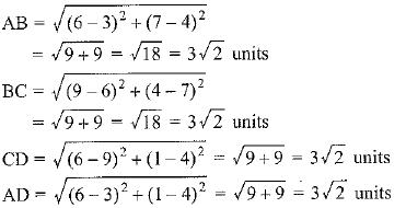Ex 7.1 NCERT Solutions- Coordinate Geometry Class 10 Notes | EduRev