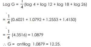 Geometric Mean - Measures of Central Tendency, Business Mathematics & Statistics B Com Notes | EduRev