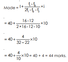 Mode - Measures of Central Tendency, Business Mathematics & Statistics B Com Notes | EduRev