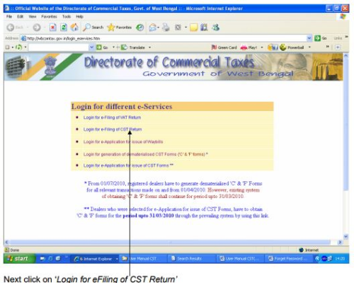E-Filing - Value added Tax (VAT), Indirect Tax Laws B Com