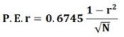 Probable Error - Correlation & Regression, Business Mathematics & Statistics B Com Notes | EduRev