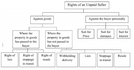 Rights of an Unpaid Seller - The Sale of Goods Act(1930) , Business Law B Com Notes | EduRev