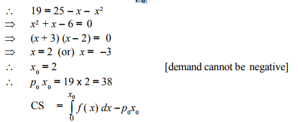 Consumers' and producers' surplus - Integration, Business Mathematics & Statistics B Com Notes | EduRev