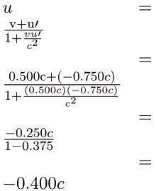 Relativistic Addition of Velocities Physics Notes | EduRev