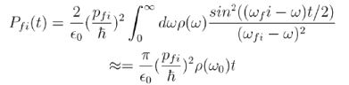 Time Dependent Perturbation Theory, Fermi`s Golden Rules and Selection Rules - Quantum Mechanics Physics Notes | EduRev