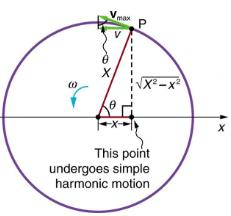 Uniform Circular Motion and Simple Harmonic Motion Physics Notes | EduRev