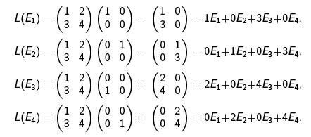 Matrix Representation of Linear Transformations - Matrix
