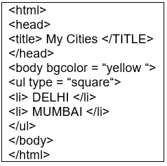 HTML Advanced: Short Answer Type Questions Notes   EduRev