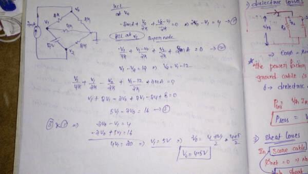 Nodal analysis Electrical Engineering (EE) Notes   EduRev