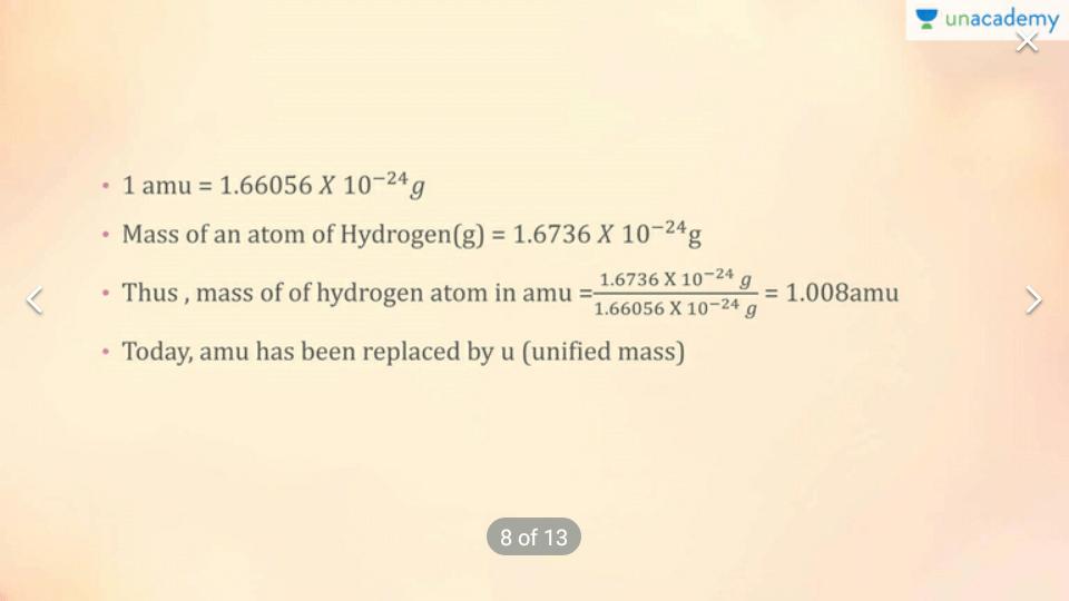 Atomic Mass,,,Molecular Mass & Formula Mass.... Class 12 Notes   EduRev