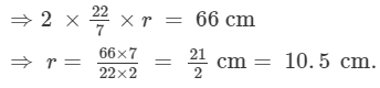 RD Sharma Solutions (Part - 1) - Ex-21.1, Mensuration - II Area of Circle, Class 7, Math Class 7 Notes | EduRev