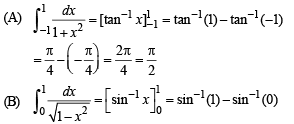 Match the following Question of Definite Integrals and Applications, Past year Questions JEE Advance JEE Notes   EduRev
