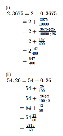 RD Sharma Solutions -Ex-7.1, Decimals, Class 6, Maths Class 6 Notes | EduRev